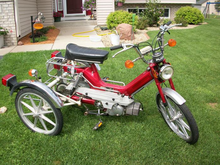sunday morning motors beautiful vintage european pedal mopeds 1977 puch trirad