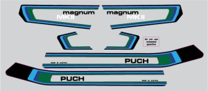 Decal 1979 Puch Magnum Mkll