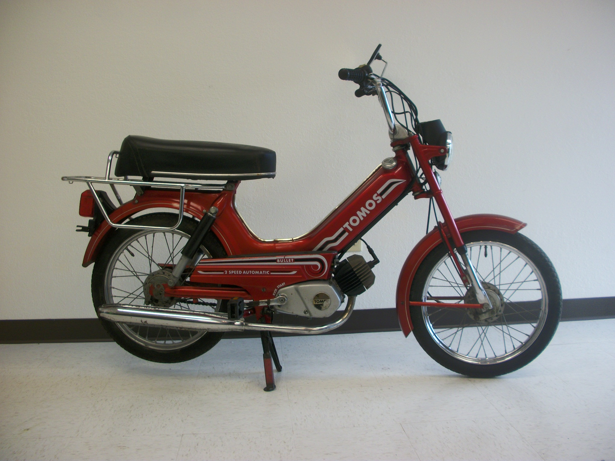 Used* 1980 Red Tomos Bullet (Sold) | Sunday Morning Motors