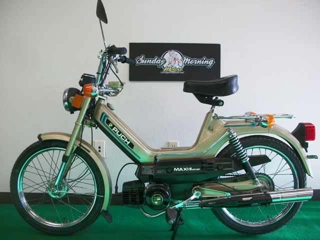 Reconditioned* 1979 Gold Puch Maxi II (Sold) | Sunday