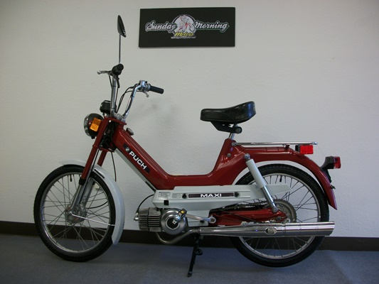 Restored* 1977 Red Puch Maxi (Sold) | Sunday Morning Motors