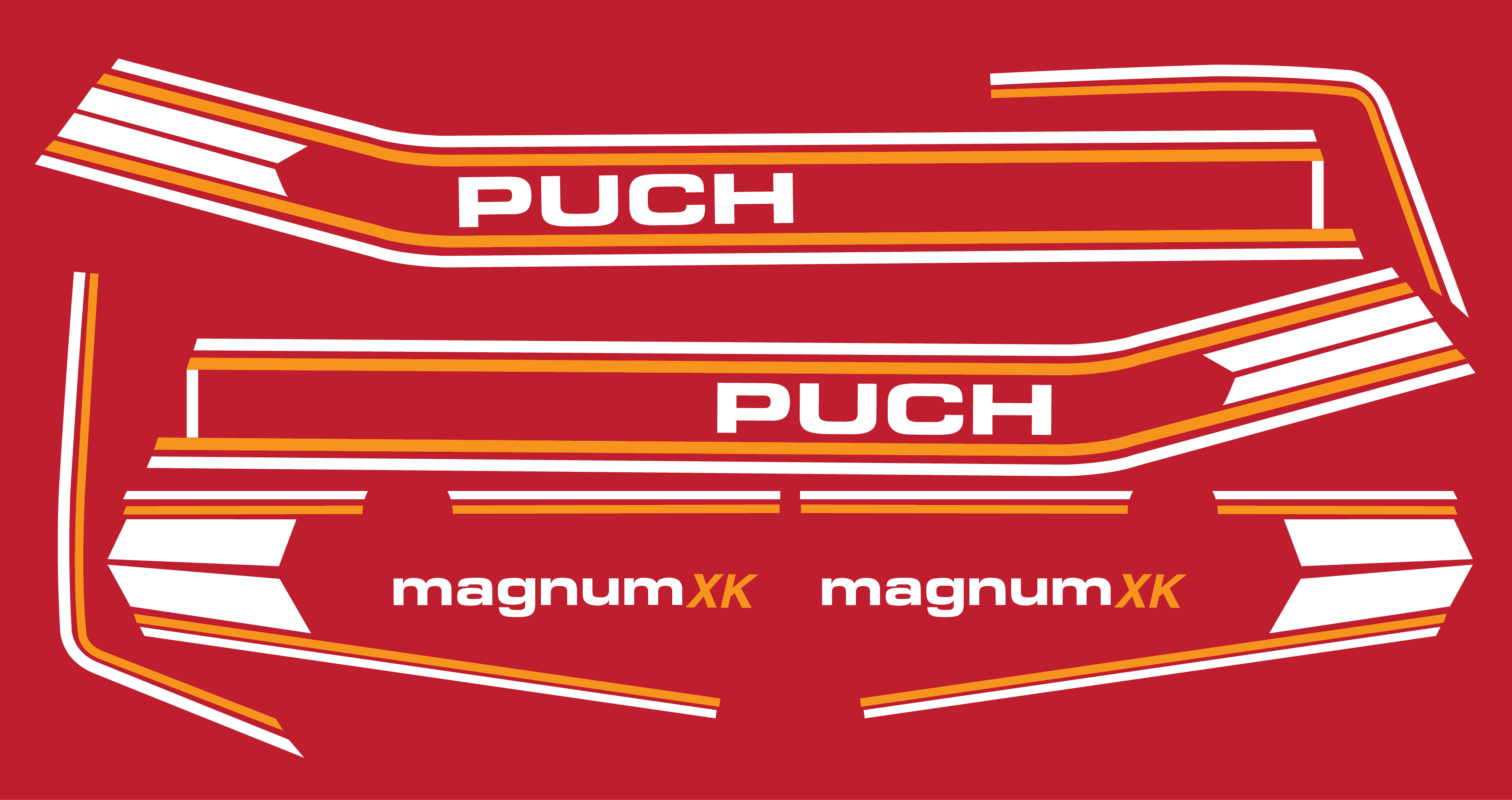 Puch Magnum Wiring Diagram 1978 Maxi Restoration Decal Sets Sunday Morning Motors Parts