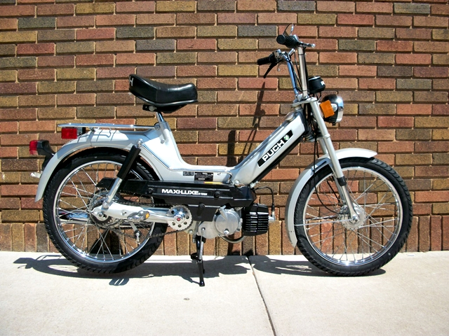 reconditioned  1978 silver puch maxi