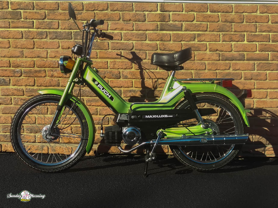 reconditioned 1978 puch maxi luxe sunday morning motors 1978 green maxi luxe 1