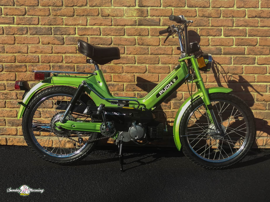 reconditioned 1978 puch maxi luxe sunday morning motors 1978 green maxi luxe 2