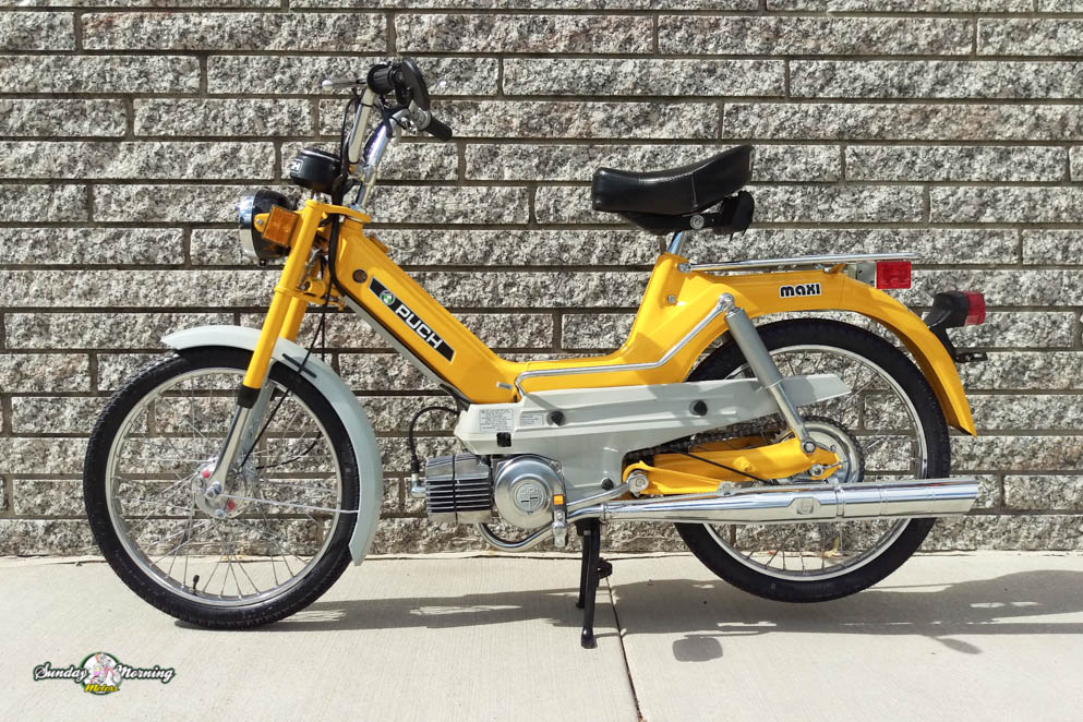 puch moped wiring diagram lazer moped wiring diagram reconditioned 1976 yellow puch maxi sold sunday